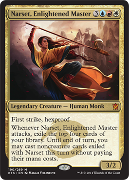 In this timeline, Narset's planeswalker spark was shaken, not stirred.
